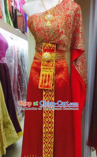 bcf2bf709911 Top Traditional National Thai Costumes Garment Dress Thai Traditional Dress  Dresses Wedding Dress Complete Set for ...
