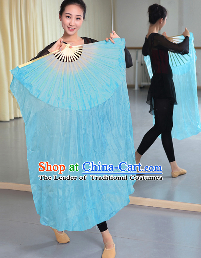 Professional Traditional Chinese Beijing Dance Academy Two Layers Pure Silk Dance Fan