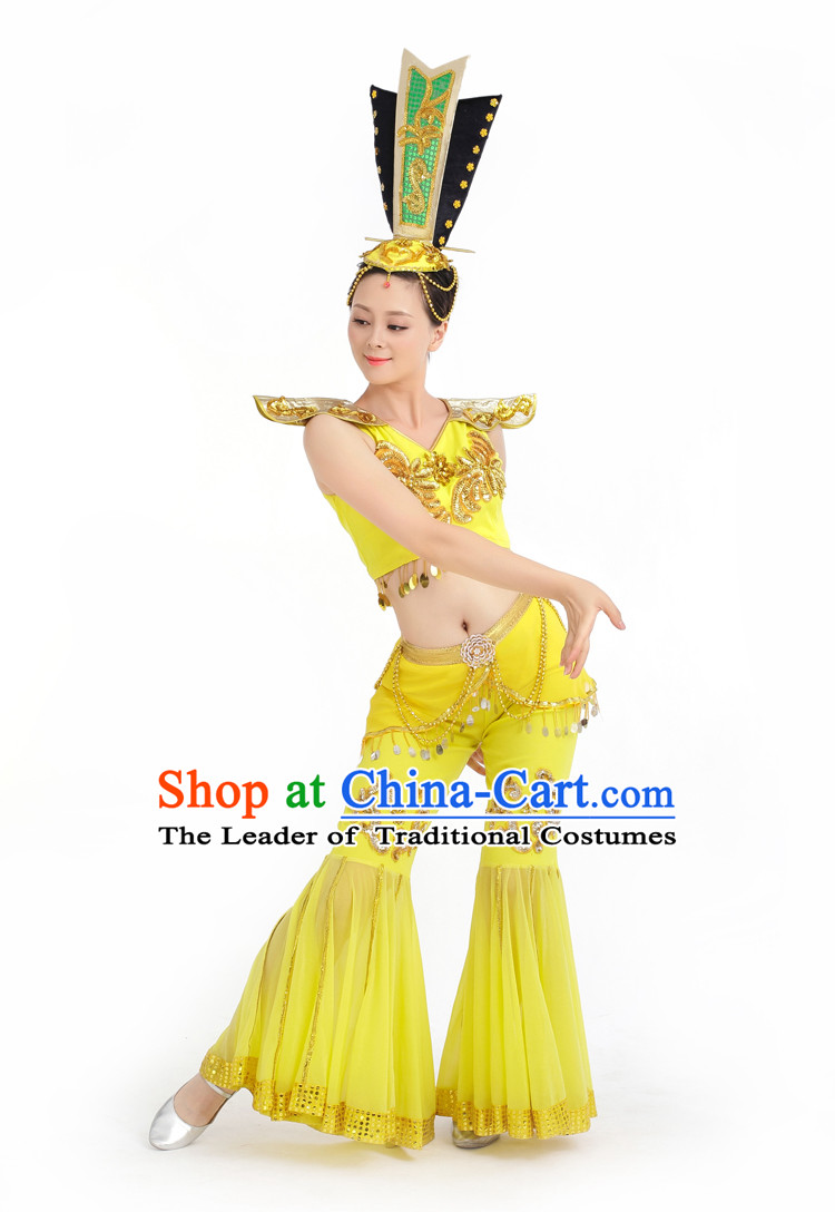 Chinese Competition Stage Classical Fairy Dance Costumes Female Dance Costumes Folk Dances Ethnic Dance Fan Dance Dancing Dancewear for Women
