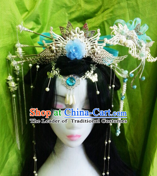 Chinese Ancient Empress Princess Queen Hair Accessories Headdress Hairpin Headwear Jewelry for Women Girls