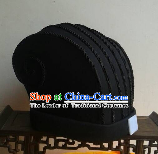 Ancient Asian Chinese Headdress Oriental Headwear Official Hat for Men Boys