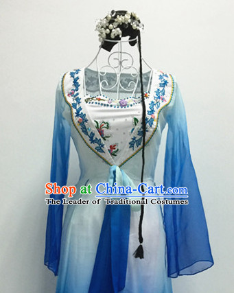 Chinese Classical Dance Costumes and Headdress Complete Set for Women or Gilrs