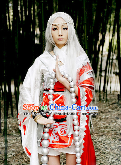 Chinese Superhero Monk Cosplay Costumes and Headdress Complete Set