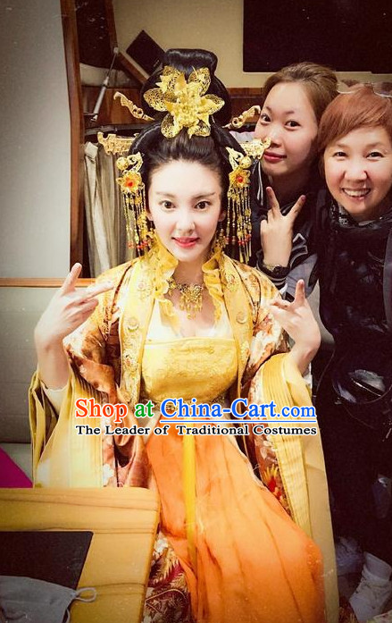 Ancient Chinese Empress Hair Accessories and Wig Set