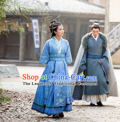 Chinese Traditional Superheroine Ancient Clothing and Hair Jewelry Complete Set for Women