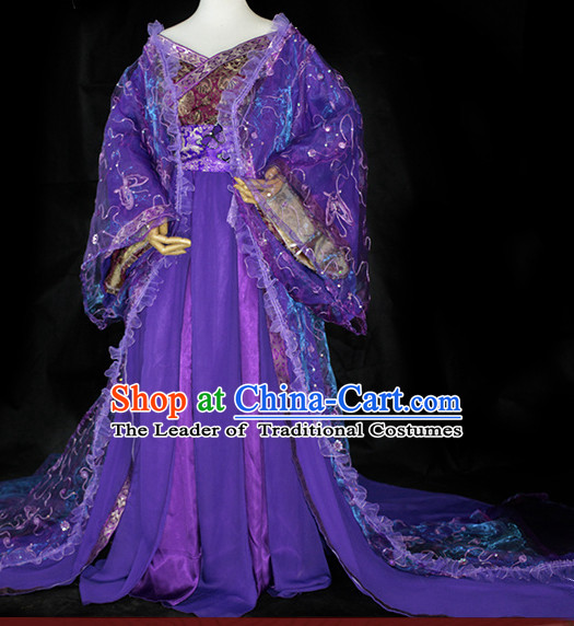 Chinese Traditional Empress Costume Complete Set for Girls Women