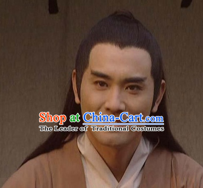 Tang Dynasty Palace Xue Shao Black Long Wigs for Men