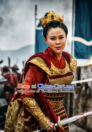 Asian Ancient Chinese Samurai Authentic Fantasy Suit of Body Armor for Sale Complete Set for Women