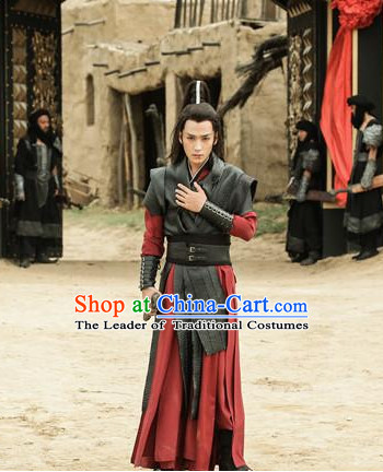 Ancient Chinese Traditional Knight National Hanfu Dress Costumes Clothes Ancient China Clothing for Men or Boys