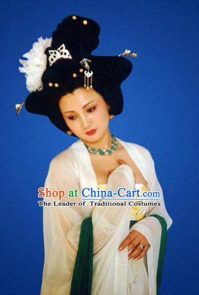 Ancient Chinese Style Black Empress Wigs and Headwear for Women