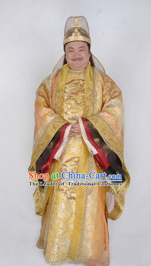 Ancient Chinese Style Emperor Costumes Dress Authentic Clothes Culture Traditional National Clothing Complete Set