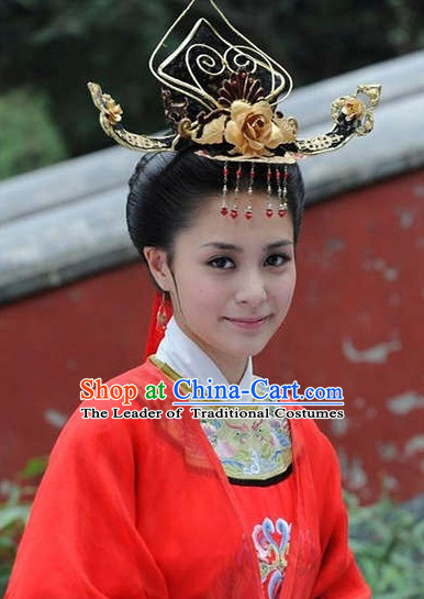 Traditional Ancient Chinese Style Bridal Wedding Hair Accessories Hair Jewelry Headpieces Set for Women