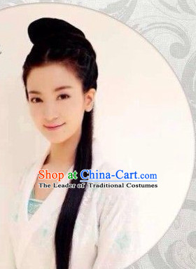 Ancient Chinese Traditional Style Black Female Full Wigs