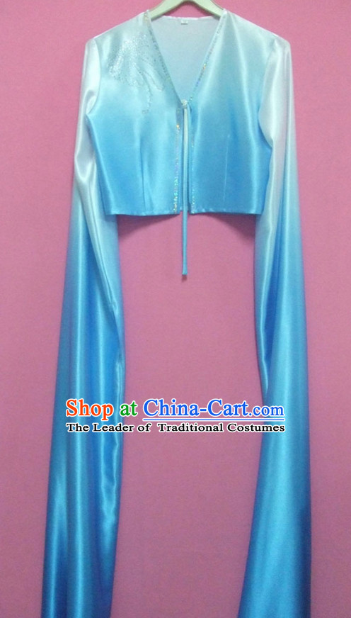 Color Transition Long Sleeves Chinese Classical Dance Costumes for Women