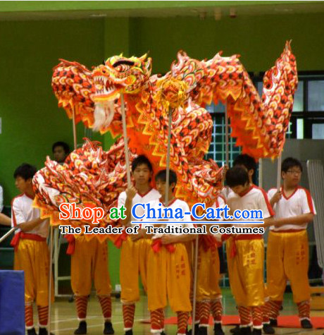 Middle School Traditional Chinese Illuminated Dragon Dance Costumes Complete Set