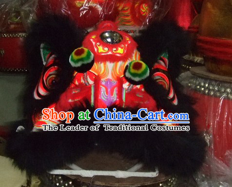 Supreme Chinese 100% Natural Long Wool Fut San Lion Dancing Costumes Complete Set