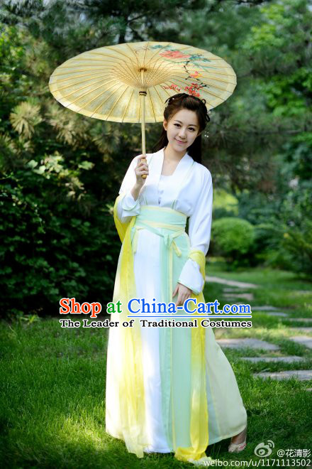 Chinese Ancient Costume and Hair Accessories Complete Set for Women