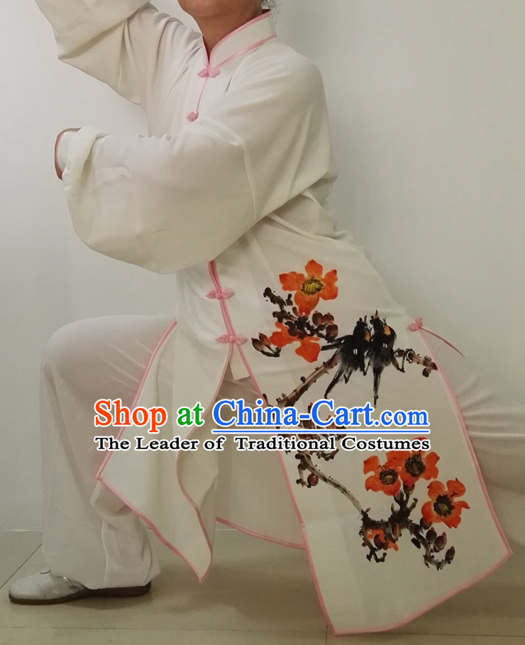 Top Chinese Traditional Mandarin Martial Arts Tai Chi Kung Fu Gongfu Competition Championship Clothes Suits Uniforms