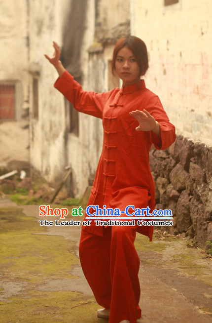 Long Chinese Traditional Mandarin Martial Arts Tai Chi Kung Fu Gong Fu Competition Championship Jacket Suits Uniforms for Men Women Children