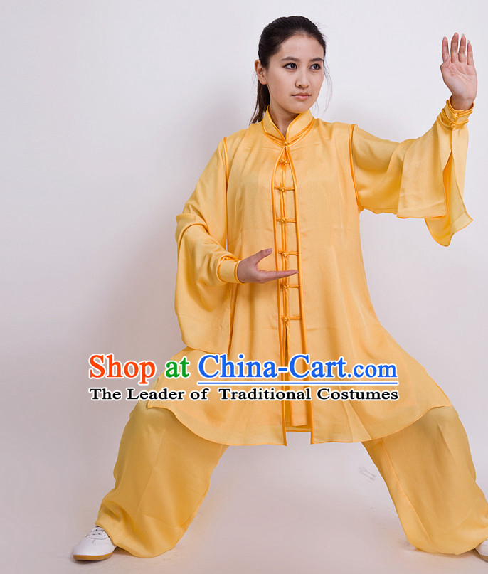 Chinese Traditional Mandarin Martial Arts Tai Chi Kung Fu Gong Fu Competition Championship Suits Uniforms for Men Women Children