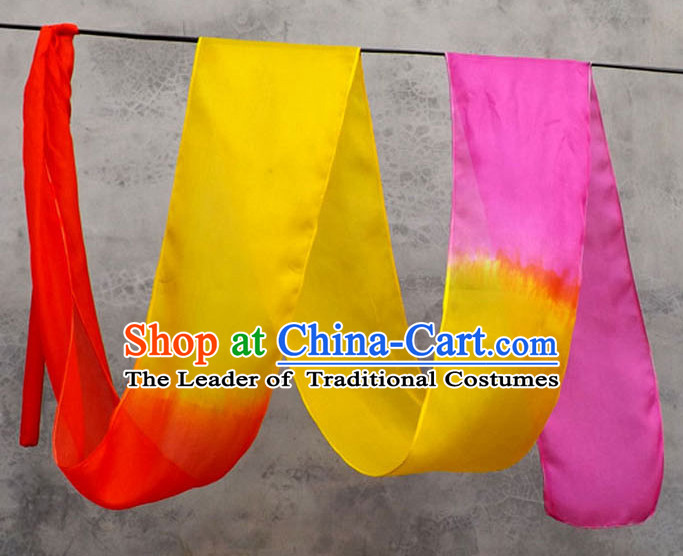 Top 3 Meters Pure Silk Color Changing Colr Change Dance Ribbon Dancing Ribbons