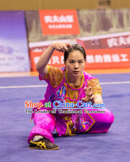 Top Kung Fu Competition Championship Uniforms Pants Suit Taekwondo Apparel Karate Suits Attire Robe Championship Costumes for Men Women Children