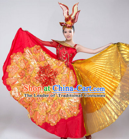 Chinese Stage Opening Dancewear Costumes Dancer Costumes Dance Costumes Chinese Dance Clothes Traditional Chinese Clothes Complete Set for Women Children