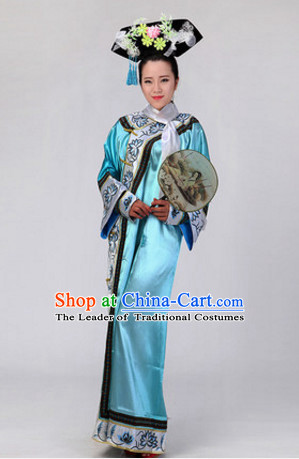 Chinese Stage Manchu Ethnic Dancewear Costumes Dancer Costumes Dance Costumes Chinese Dance Clothes Traditional Chinese Clothes Complete Set for Women Children