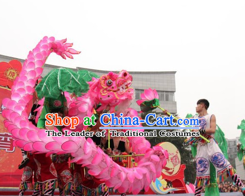 Most Beautiful Best Handmade Lotus Dragon Dance Costumes Complete Set