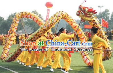 Colorful Rainbow Competition and Parade Dragon Dancing Equipment Complete Set