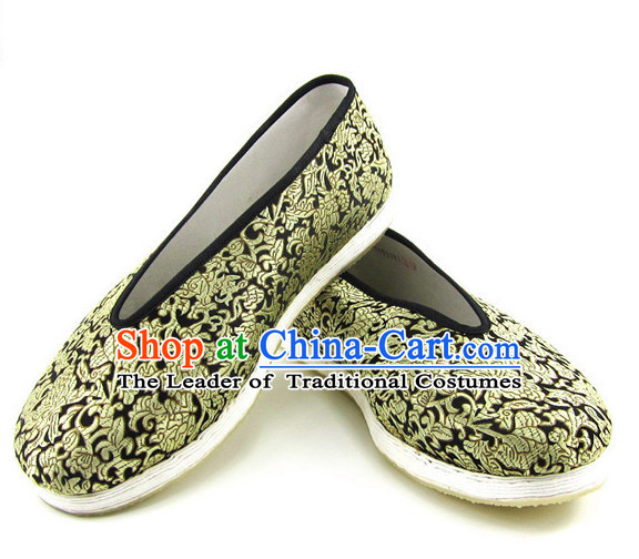 Top Chinese Classic Traditional Tai Chi Shoes Kung Fu Shoes Martial Arts Fabric Shoes for Men or Women
