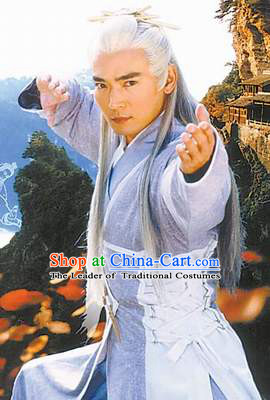 Chinese Ancient Taoist Zhang Sanfeng Costumes Complete Set for Men