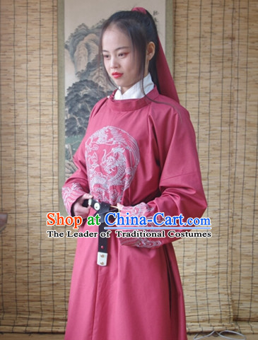 Traditional Asian Chinese Swordsman Clothing Garment Hanfu Clothes Complete Set