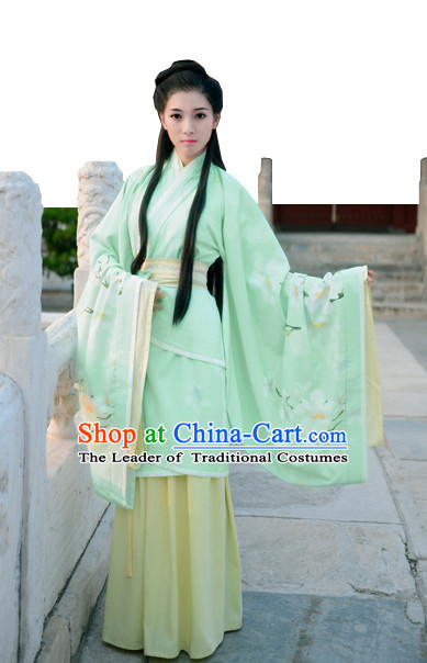 Top Chinese Han Dynasty Beauty Princess Hanfu Clothing Chinese Hanfu Costume Hanfu Dress Ancient Chinese Costumes and Hair Jewelry Complete Set for Women Girls Children