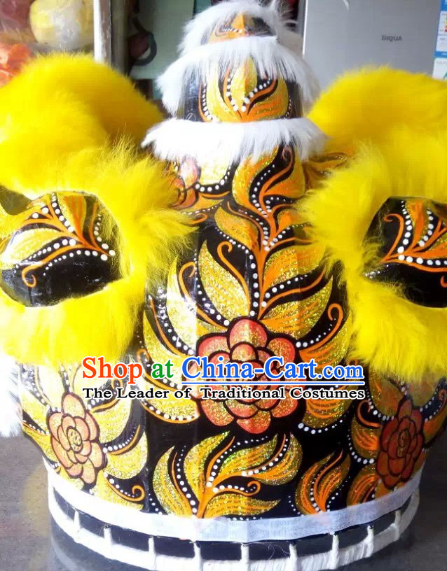 Top Yellow Competition and Parade Lion Dance Equipment Complete Set