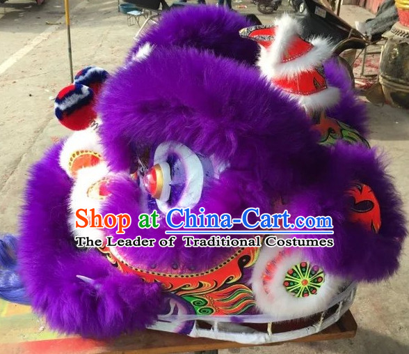 Top Purple Competition and Parade Lion Dancing Equipments Complete Set
