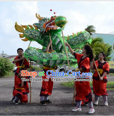 Asian Chinese New Year Performance Dragon Dance Costumes Complete Set for Six People