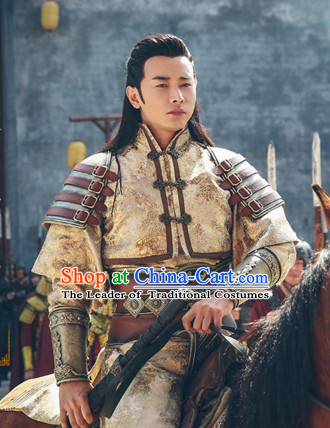 Chinese Ancient Style Superhero Costumes Complete Set for Men
