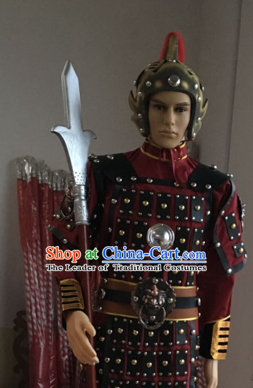 Ancient Chinese General Body Armor Costumes Complete Set