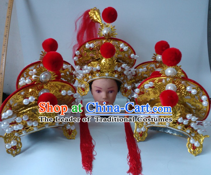 Top Chinese Traditional Warrior Coronet Opera Hat