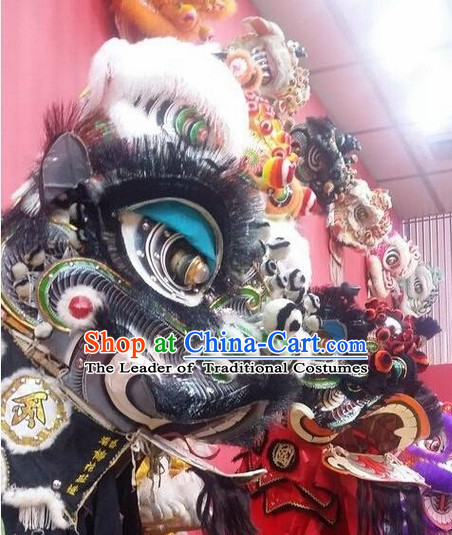 Ancient Chinese Style Fut San Southern Lion Dance Equipments Complete Set