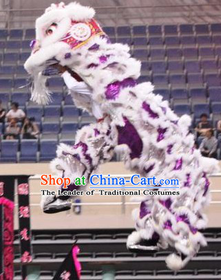 Big Opening Ceremony 100% Natural Long Wool Lion Dance Equipments Complete Set