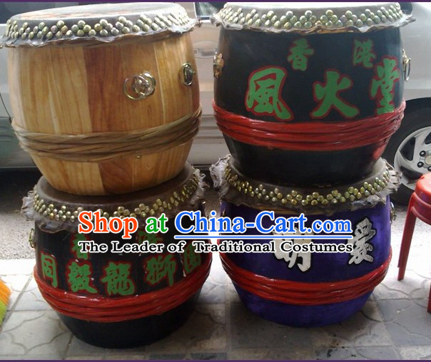 24 Inches Custom Made Big Lion Dance Wooden Drum
