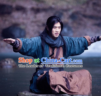 Ancient Chinese Male Hanfu Costumes Complete Set for Men