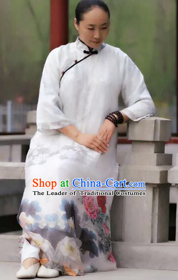 Chinese Classical Pure Silk Tai Chi Uniforms