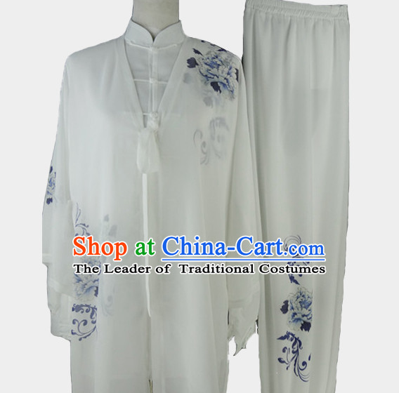 Top Chinese Traditional Competition Championship Tai Chi Taiji Clothing Three Pieces Suits Uniforms