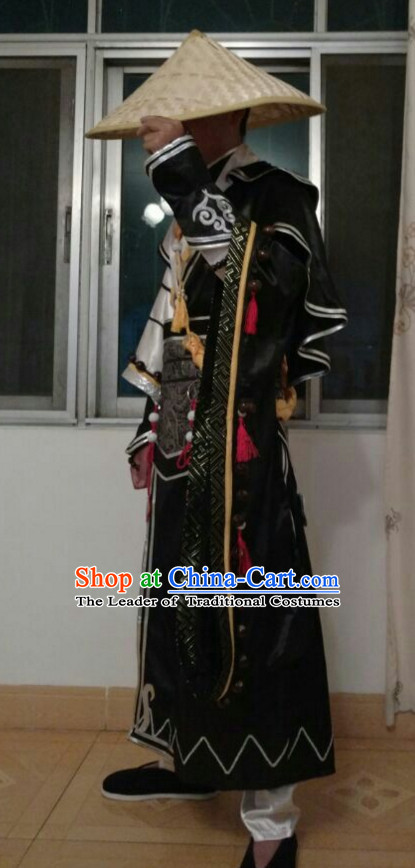 China Costume Cosplay Armor Archer Costume Avatar Costumes Wonderflex Knight Armorsuit Leather Metal Fantasy Armoury and Hair Decortaions Complete Set