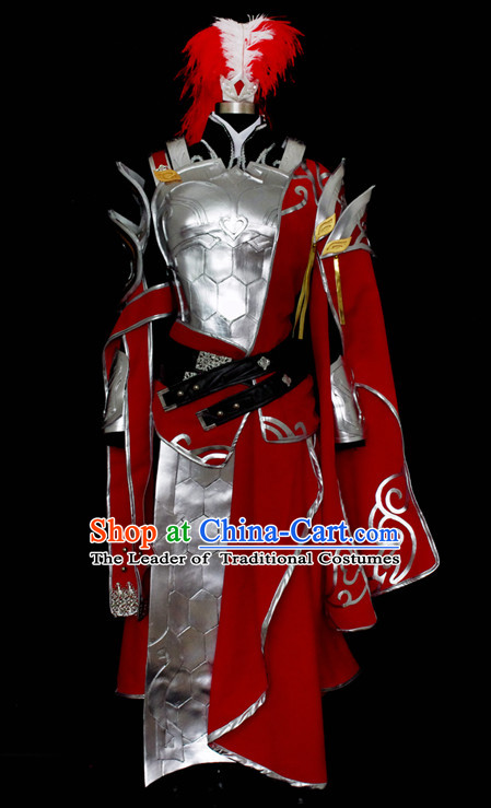 Top China Knight Male Costume Cosplay Armor Archer Costume Avatar Costumes Wonderflex Knight Armorsuit Leather Metal Fantasy Armoury and Hair Decortaions Complete Set