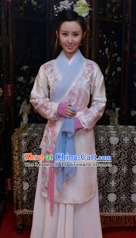 Han Dynasty Chinese Imperial Palace Lady Garment and Hair Jewelry Complete Set for Women