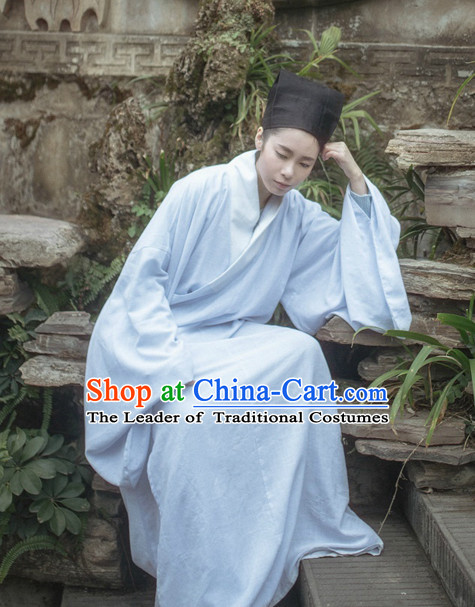 Traditional Chinese Ancient Costumes Tang Dynasty Clothing and Hat Complete Set for Men